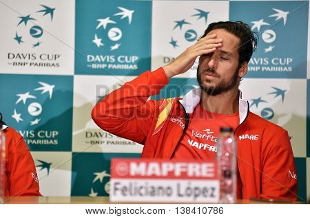 Spanish Tennisman Answering Questions During A Press Conference