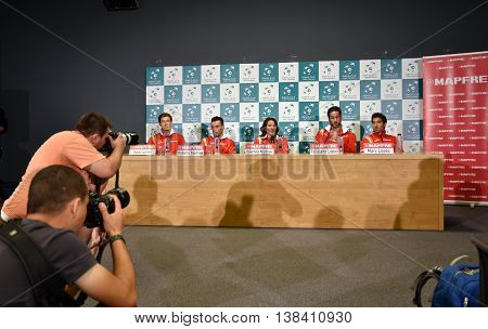Photojournalists Photographing Tennis Press Conference