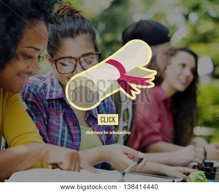 Scholarship Education Graduation Degree Concept