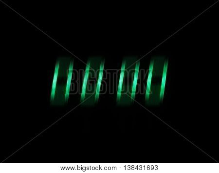 Horizontal isolated blurred green display zeros abstraction background backdrop