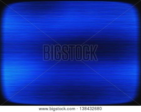 Horizontal Vintage Blue Interlaced Tv Screen Abstraction Backgro