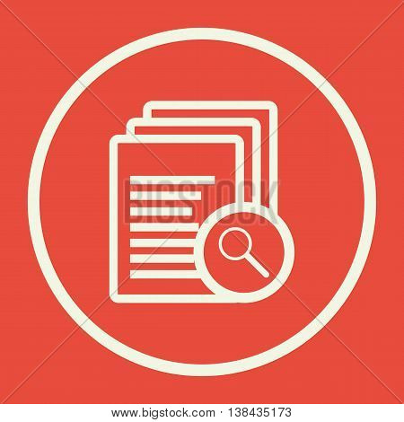 Files Zoom Icon In Vector Format. Premium Quality Files Zoom Symbol. Web Graphic Files Zoom Sign On