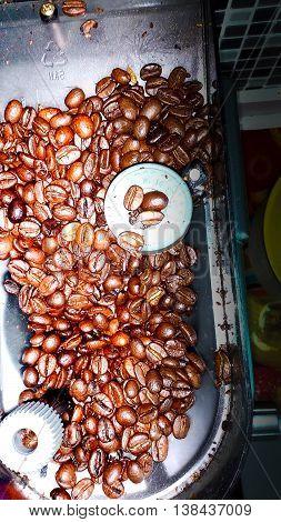 Fresh Coffee Beans A Dark Brown Variants The Arabica , Coffee.