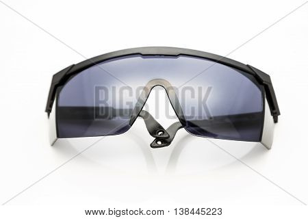 safety glasses on white background.UV protect glasses