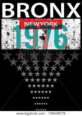 Bronx ew York sport typography t-shirt graphics vectors