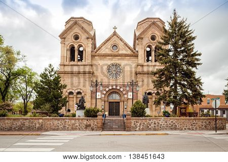 Cathedral Basilica Of St. Francis Of Assisi, Cathedral Place, Santa Fe, New Mexico