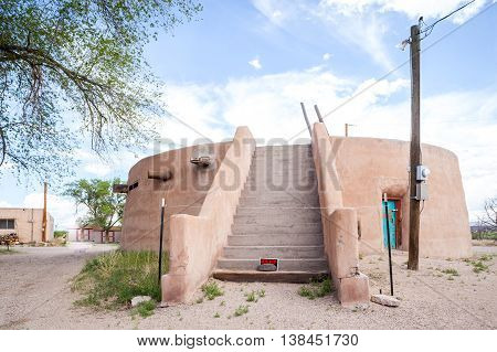 Modern Place Of Worship - Kiva - In Traditional Indian Reservation
