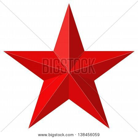 Red star 3D shape - 3D model used for reference