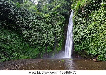 Nungung waterfall in Northern region of Bali