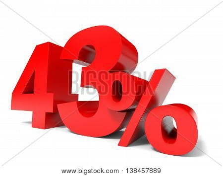 Red Forty Three Percent Off. Discount 43%.