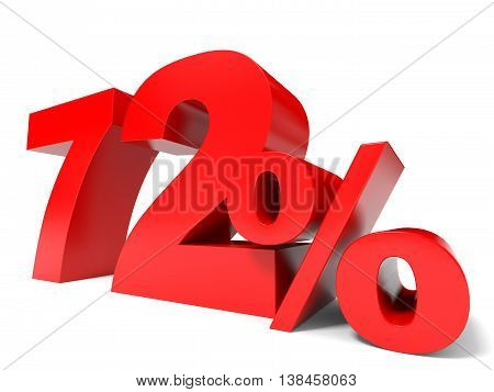 Red Seventy Two Percent Off. Discount 72%.