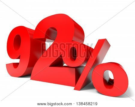 Red Ninety Two Percent Off. Discount 92%.