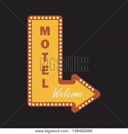 Motel banner vintage vector illustration eps 10