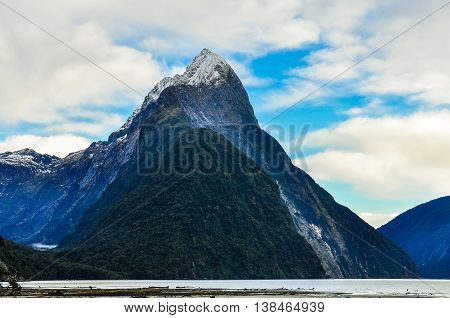 The Mitre Peak In The Milford Sound, New Zealand