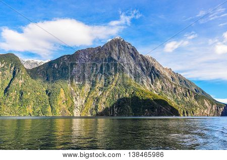 Calm Scenery In The Milford Sound, New Zealand