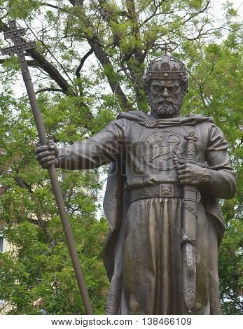 Tsar (King) Samuil monument in Sofia, Bulgaria