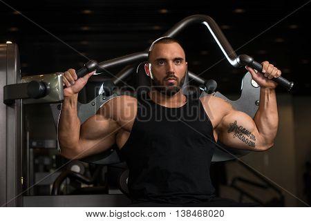 Big Man Exercise Back On Machine