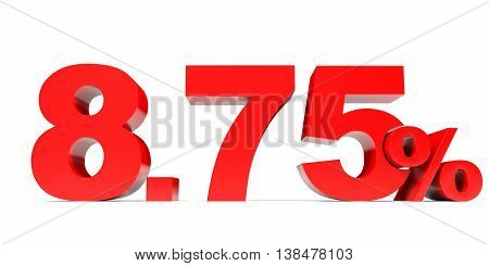 Red Eight Point Seven Five Percent Off. Discount 8.75 Percent.
