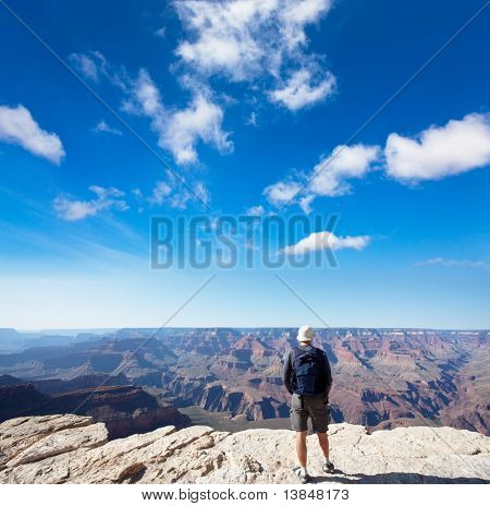 Tourist in Grand Canyon