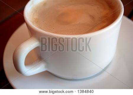A warm cup of hot chocolate