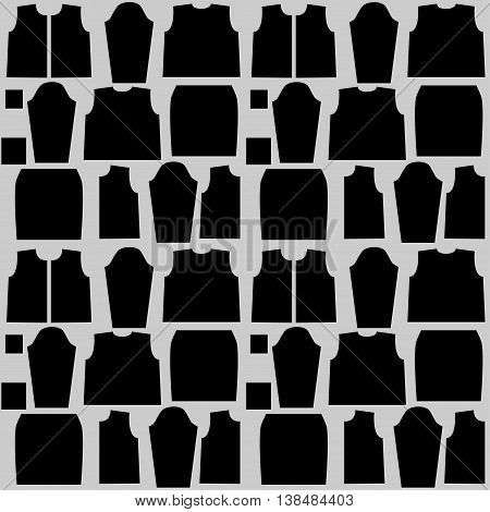 Isolated stylized sewing pattern. Good for different templates, scrapbook, package and wrapping paper, etc
