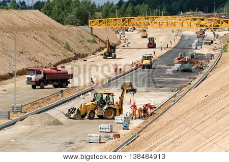 Construction site of a new highway