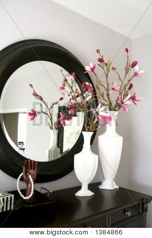 Dresser With Flowers