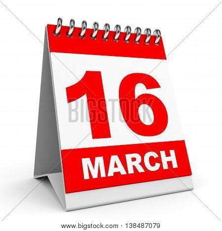 Calendar. 16 March.