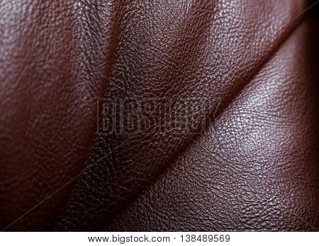Brown Structure Of A Skin With Pimples
