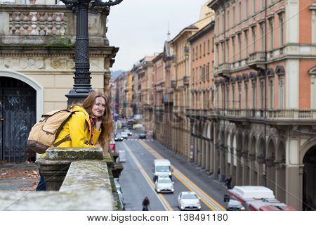 Looking At The Bologna Streets