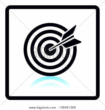 Icon Of Target With Dart