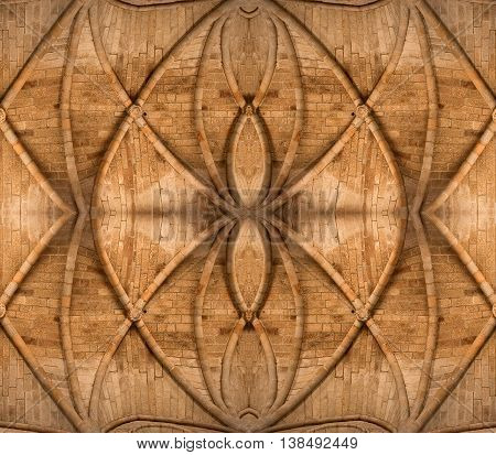 Ornate stone ceiling for background or backdrop