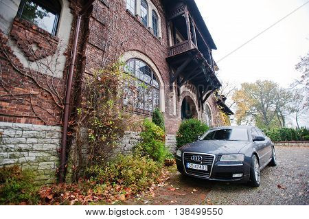Sosnowiec, Poland - October 23, 2014: Audi S6 (audi A6),  Car Produced By German Automaker Audi Back