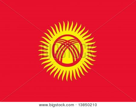 Kyrgystan National Flag