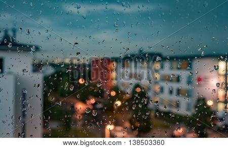 section - the windows. photographs on a rainy day.