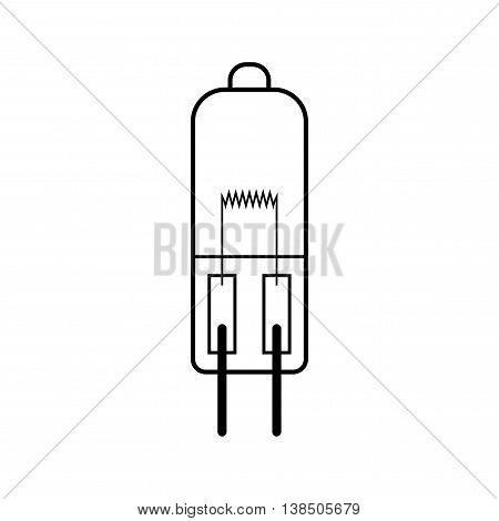 Halogen light bulb. Flat linear icon. Lighting equipment. Energy saving. Vector