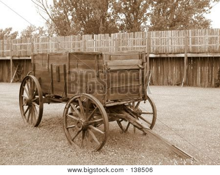 Old Wooden Wagon Sepia