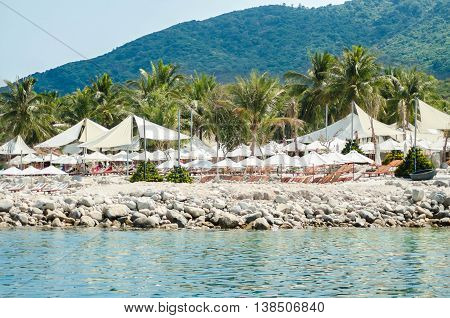 Vietnam. Summer. The hotel is on the sea shore