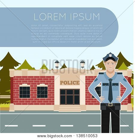 Vector image of the Police Department Banner