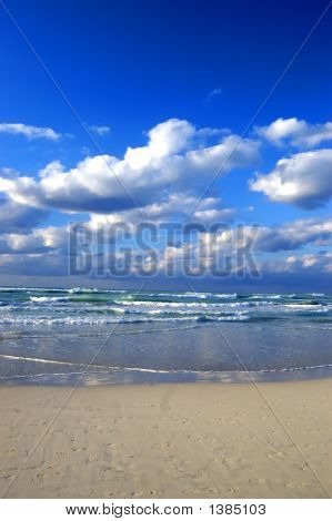 Cloudy Beach At Cuba