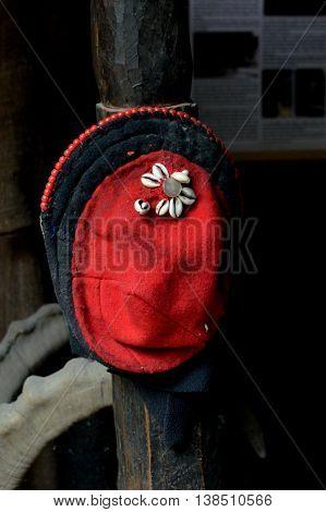 A cap worn by married women in the village of Askole, in Pakistan's Gilgit-Baltistan province.