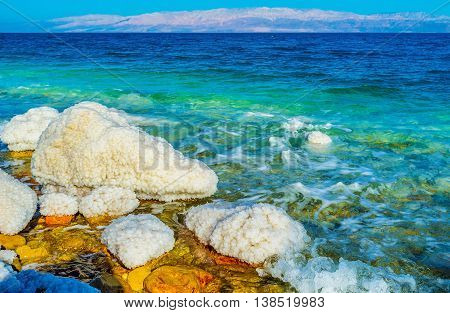 The Dead Sea is one of the most popular locations in Israel it's famous for the spa resorts balneological qualities and unusual nature Ein Gedi Israel.