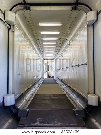 Jetway, Walking Towards The Plane, Selective Focus