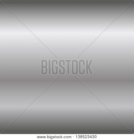 Silver texture seamless pattern. Light realistic shiny metallic empty horizontal gradient template. Abstract metal decoration. Design wallpaper background wrapping fabric etc Vector Illustration.