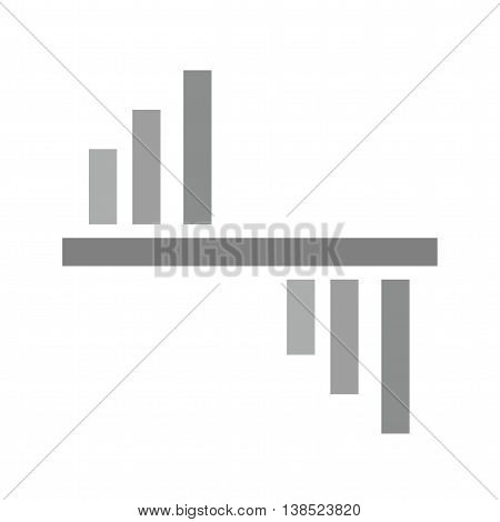 Graphic, representation, research icon vector image. Can also be used for infographics. Suitable for use on web apps, mobile apps and print media.