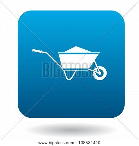 Wheelbarrow icon in simple style on a white background