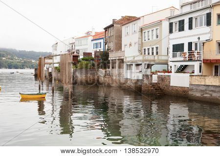 Redes: fishing village with nice houses attached to the sea