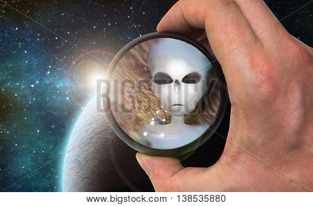 Ufologist scientist found extraterrestrial life and alien civilization on extrasolar planet with telescope