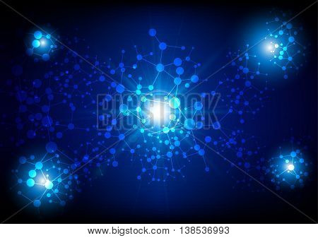 abstract network technology Connection background. illustration vector design