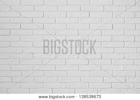 gypsum white wall from texture bricks as a background